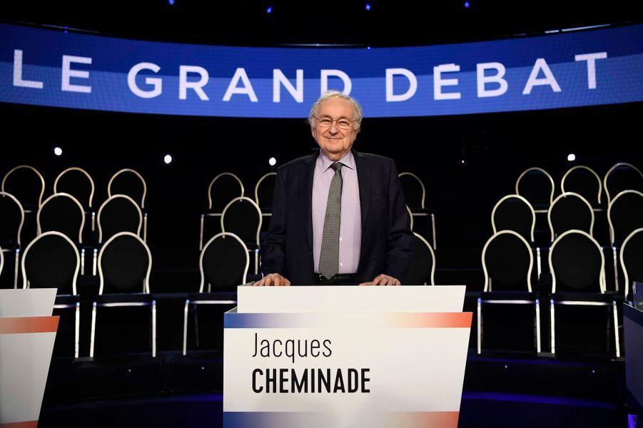 Jacques Cheminade avant le débat.