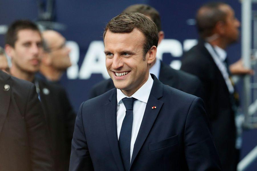Emmanuel Macron lors de la finale de la Coupe de France