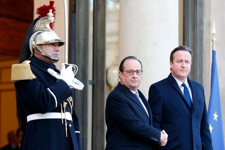 David Cameron au soutien de François Hollande