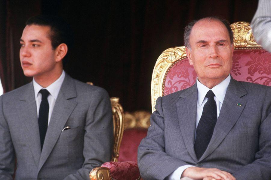 Le futur roi Mohammed VI aux côtés de François Mitterrand en 1987