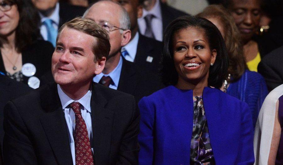 Michelle Obama souriante