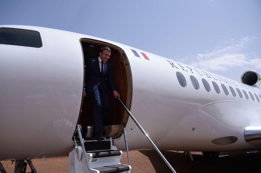 Arrivée d'Emmanuel Macron à Gao.