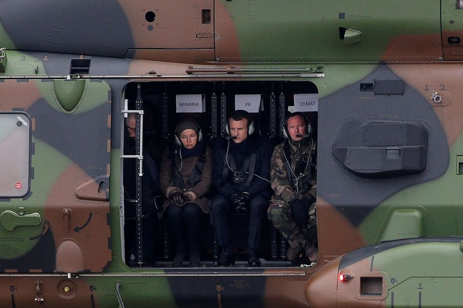 Emmanuel Macron en visite dans la Marne