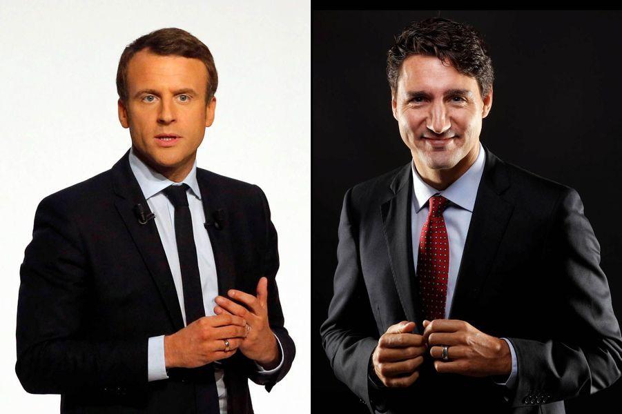 Emmanuel Macron, 39 ans, et Justin Trudeau, 45 ans.