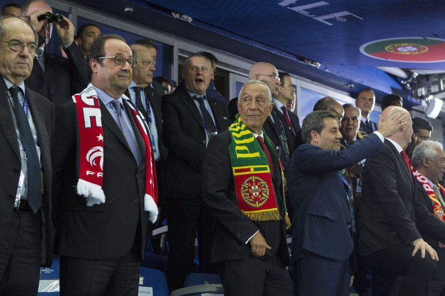 François Hollande et le président portugais Marcelo Rebelo de Sousa