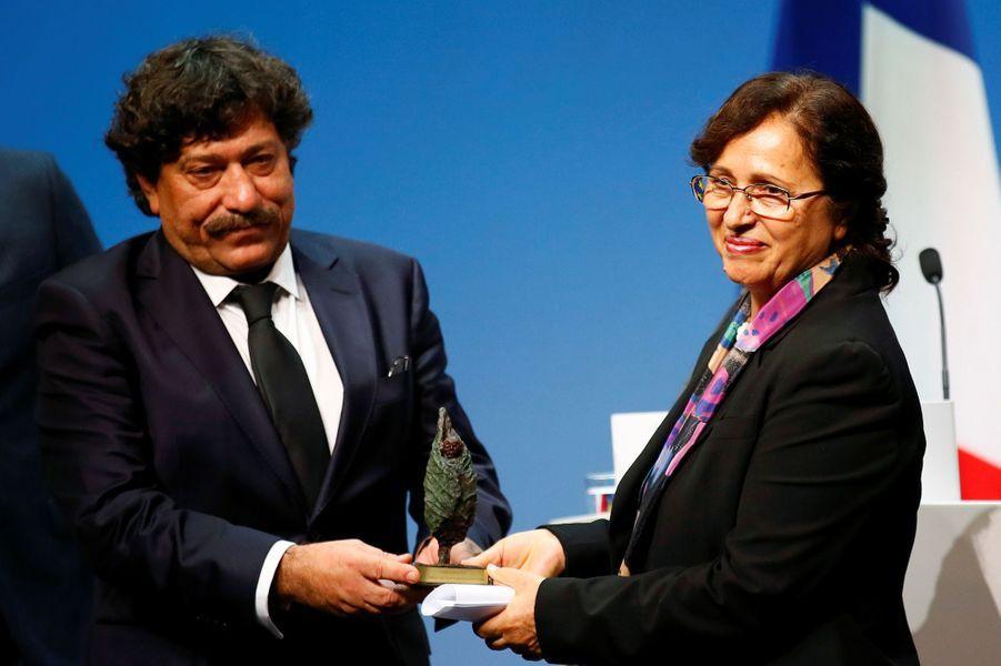 Rakel Dink,la veuve du journaliste assassiné et fondatrice dela fondation turque Hrant Dink,aux côtés de Hasrof Dink.