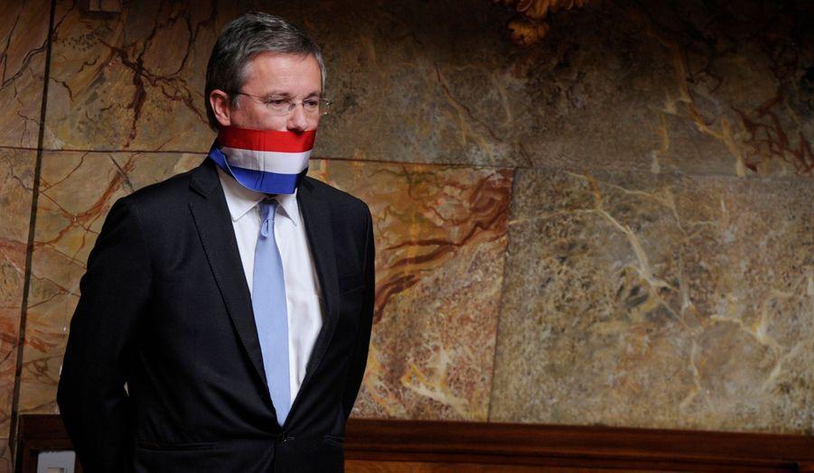 Le trublion de la droite souverainiste, ici photographié lors d'un débat à l'Assemblée nationale sur la poursuite de la guerre en Libye en juillet dernier, s'est lancé dans la course depuis plus d'un an.