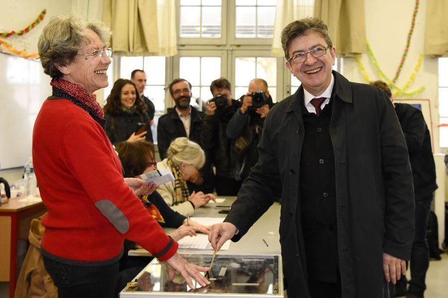 Jean-Luc Mélenchon a voté à Paris.