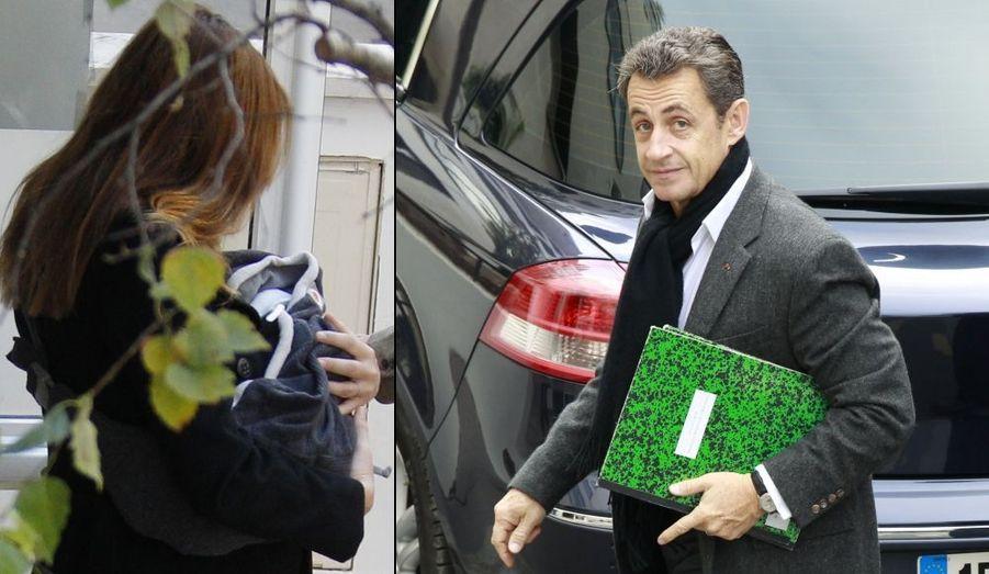 Le 19 octobre 2011, Carla et Nicolas Sarkozy accueillent la petite Giulia.