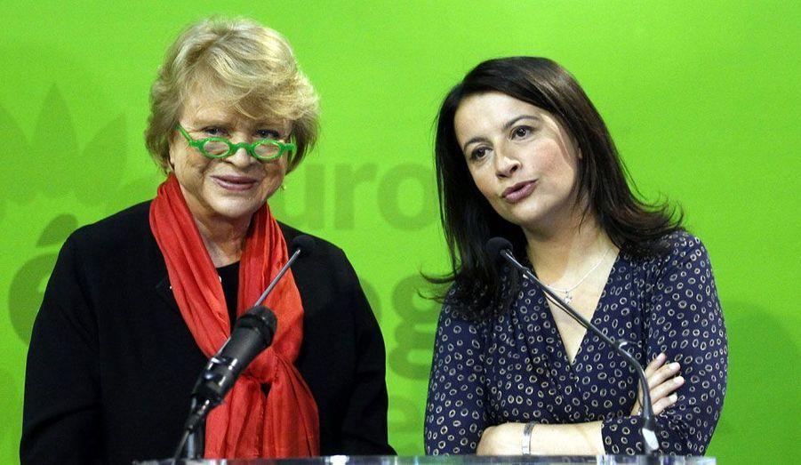 Eva Joly et Cécile Duflot en meeting à Grenoble jeudi.