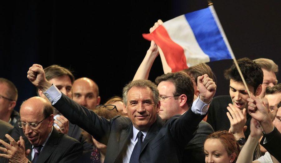 Le candidat du Modem, François Bayrou, était mercredi soir en meeting à Lille.
