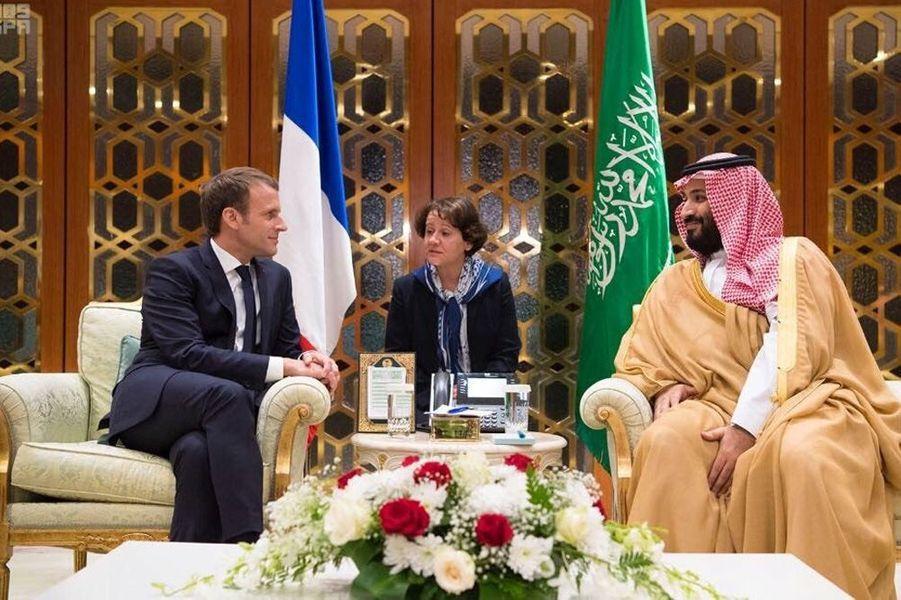 Rencontre à Ryad aveclejeune prince héritier Mohammed ben Salmane.