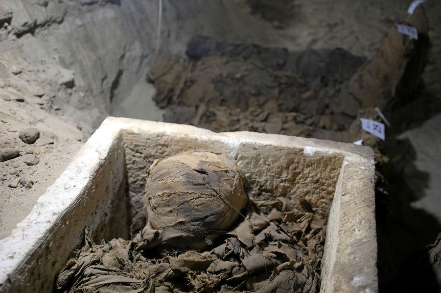 Les momies découvertes pourraient dater de la basse époque (712-332 B.C avant J.-C.).