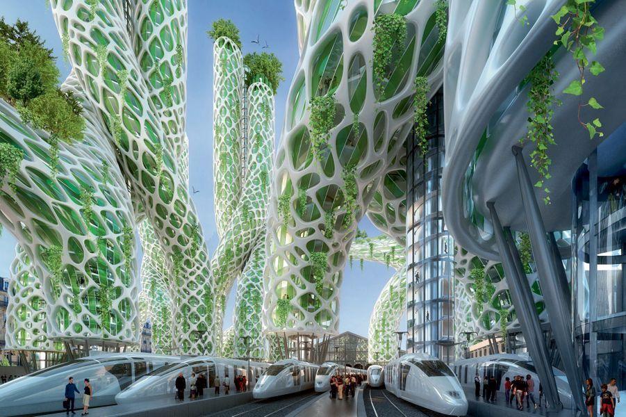 Une forêt tropicale dans la gare du Nord.