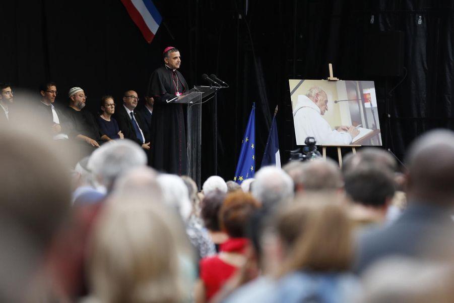 L'archevêque de Rouen Dominique Lebrun