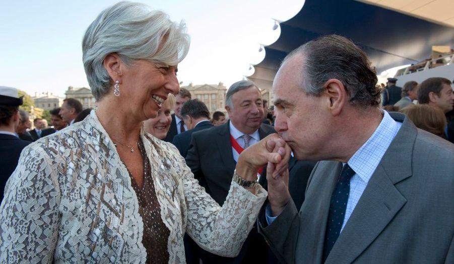 Le ministre de la Culture, Frédéric Mitterrand, a accueilli comme il se doit sa collègue Christine Lagarde, ministre de l'Economie.