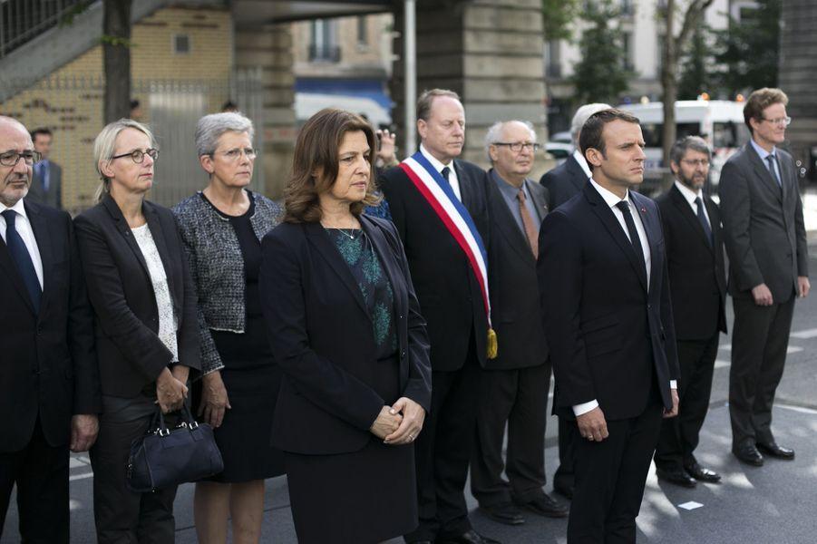 Emmanuel Macron à l'hommage rendu aux victimes de la rafle du Vel d'Hiv, le 16 juillet 2017.