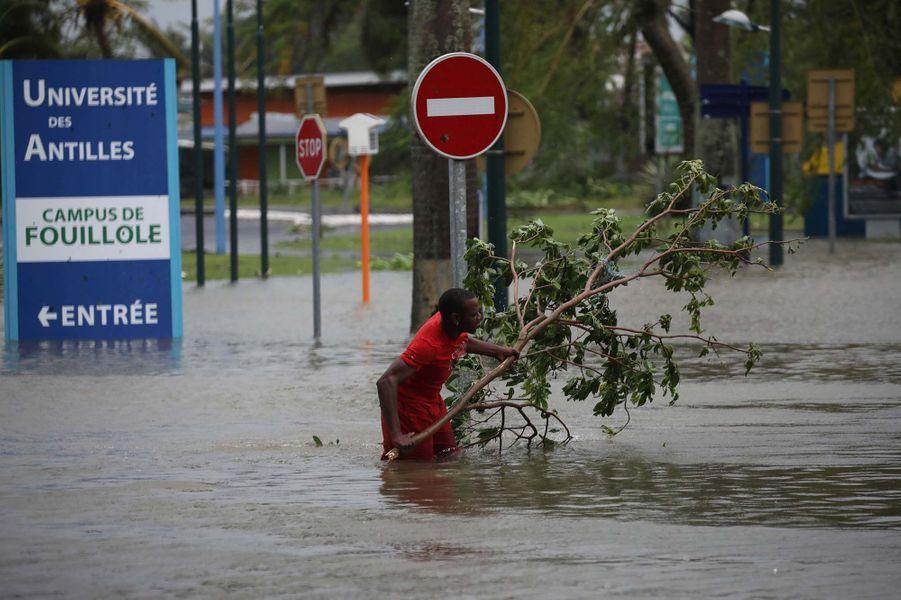 Les inondations à Pointe-à-Pitre, en Guadeloupe.