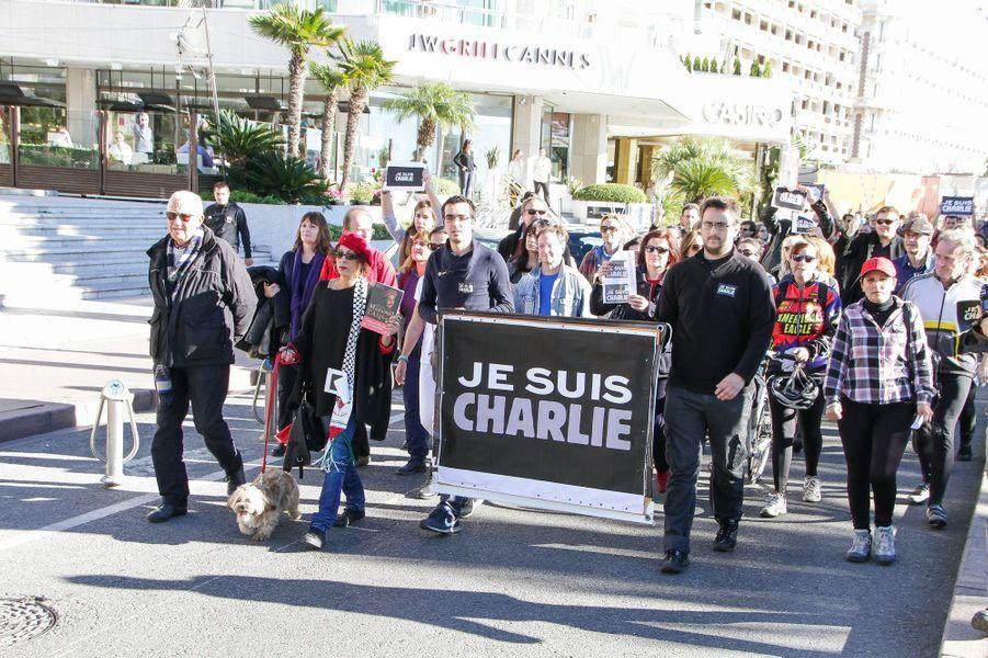 Marche républicaine à Cannes