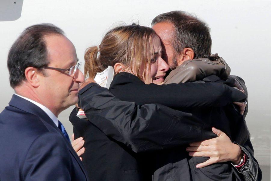 L'émotion des ex-otages français