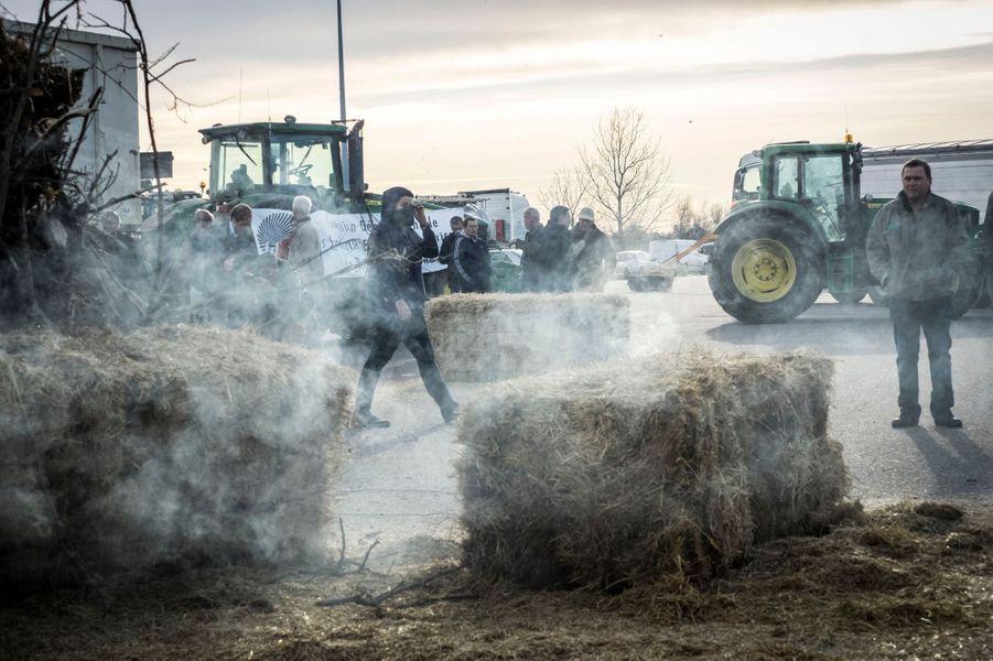 La colère des agriculteurs à Arles