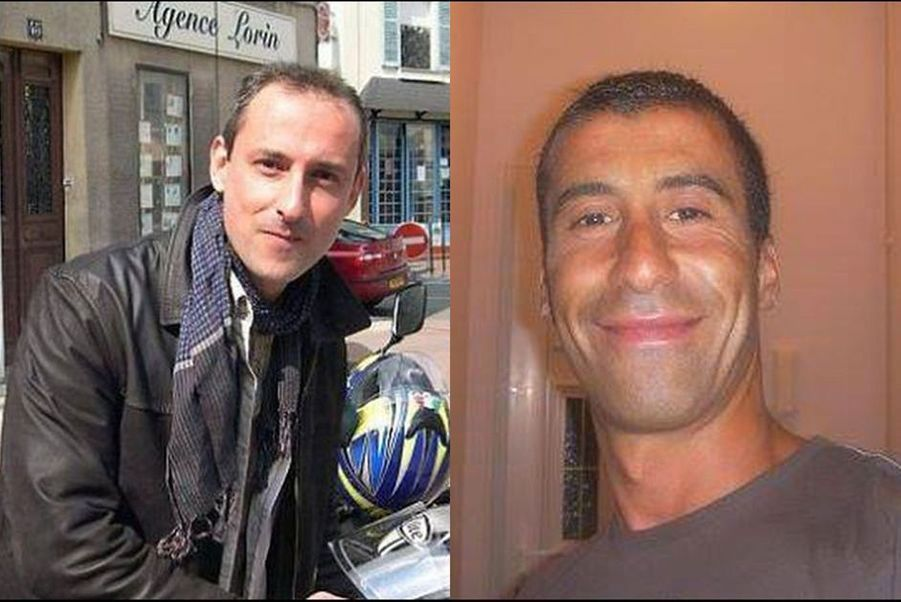 Franck Brinsolaro et Ahmed Merabet