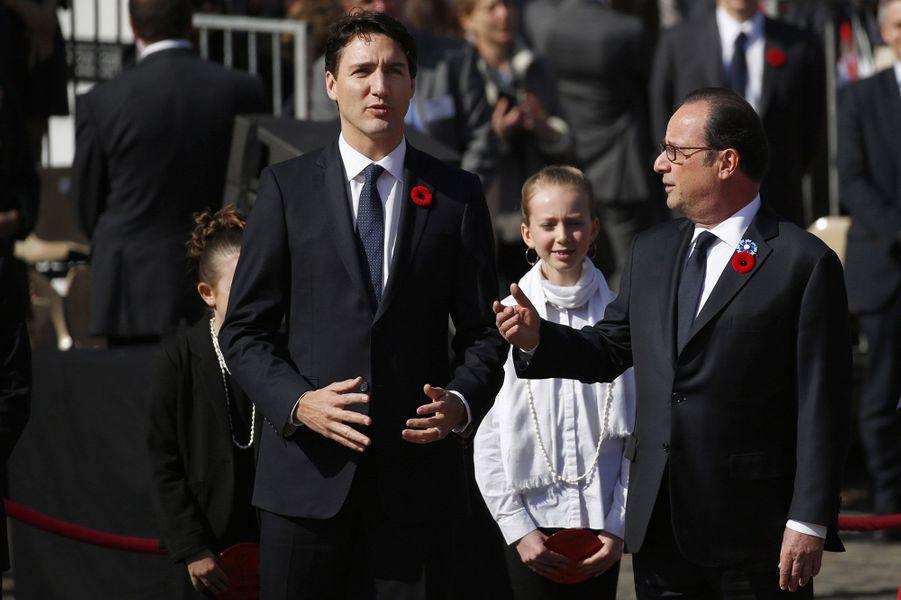 François Hollande et Justin Trudeau à Arras dimanche