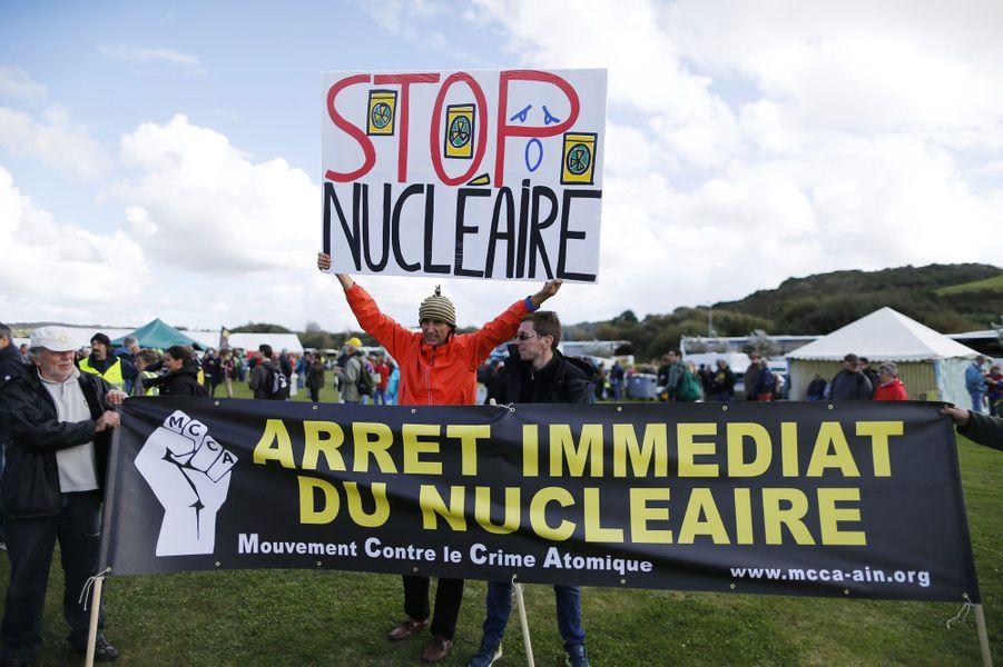 Manifestation à Siouville dans la manche, samedi