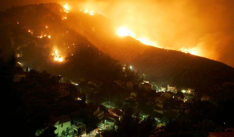 Au total, le feu a ravagé 1100 hectares de terrain.