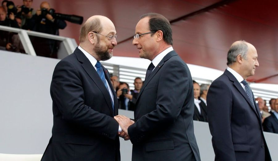 Martin Schulz, président du Parlement européen, était l'invité de François Hollande.