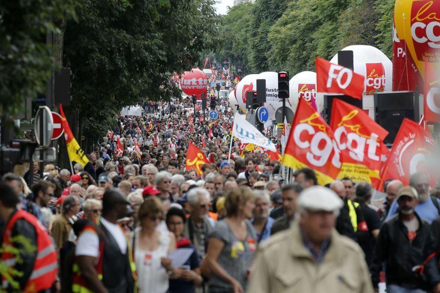 Loi travail: moins de manifestants dans les rues à Paris, ce mardi.