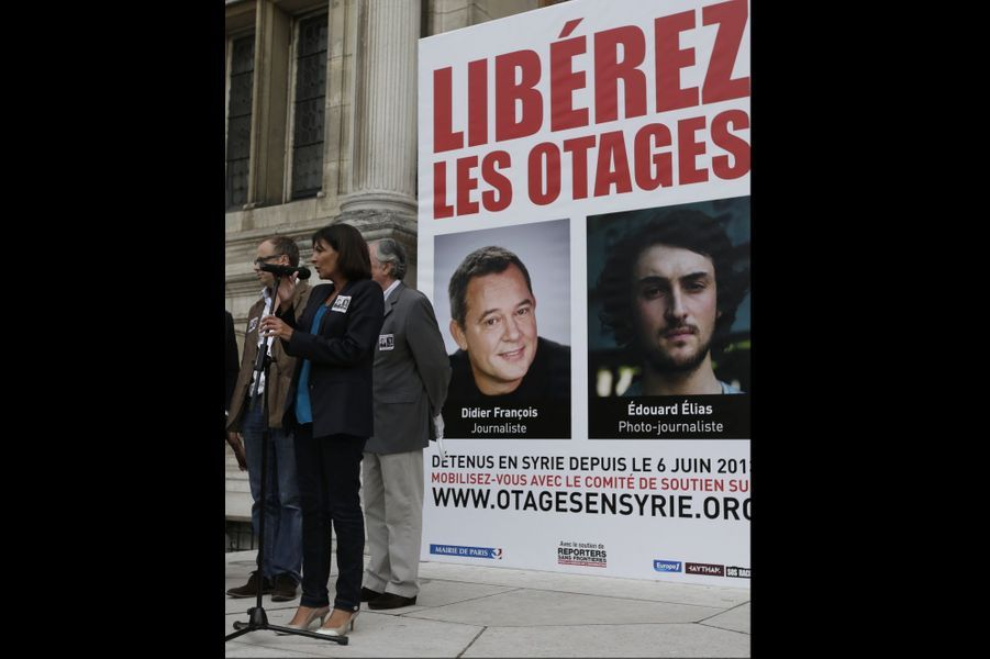 Mobilisation pour Didier François et Edouard Elias
