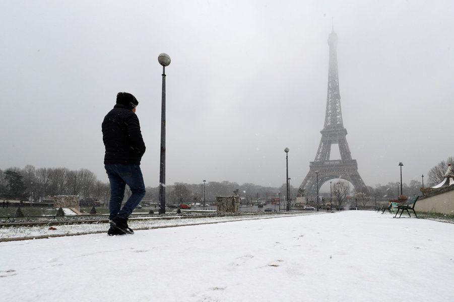 La neige à Paris, le 5 février 2018