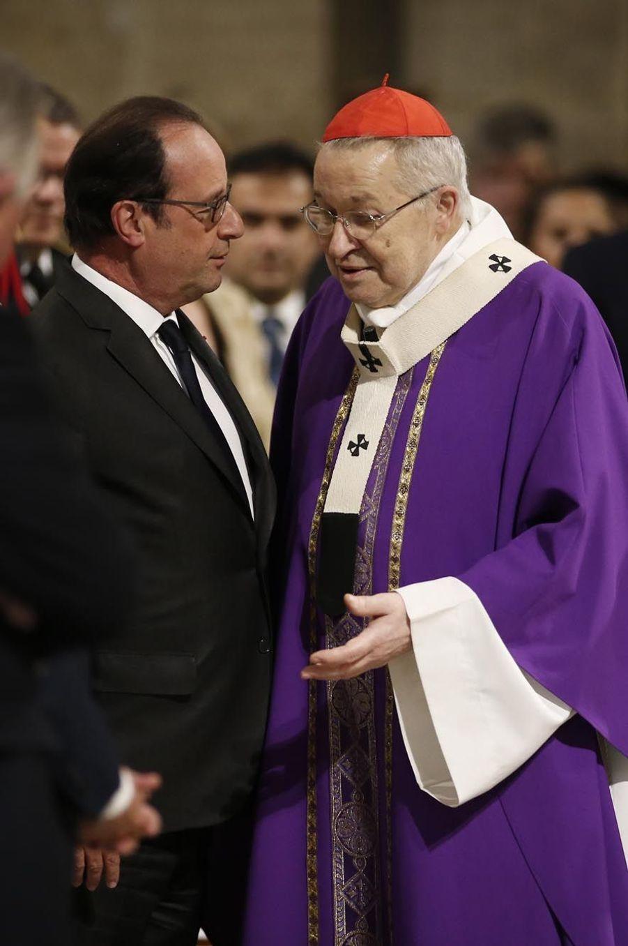 François Hollande et le Cardinal André Vingt-trois