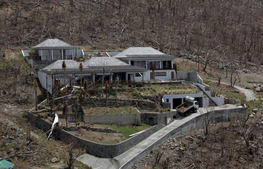 Une villa détruite, paysage typique de l'ile de Saint-Barth' après le passage de l'ouragan Irma.
