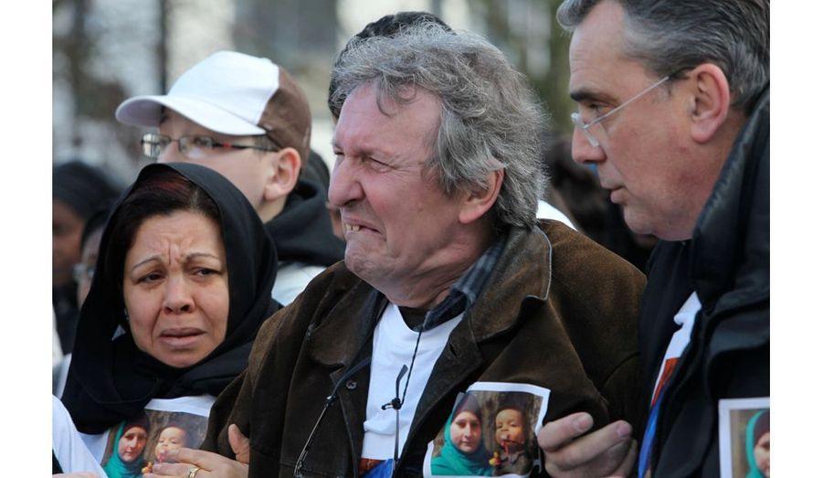 Pendant toute la marche, Stevo Pozgaj, le père de Tanja, était effondré. Il n'a pas eu le force de dire un mot à l'assistance et aux journalistes venus nombreux.
