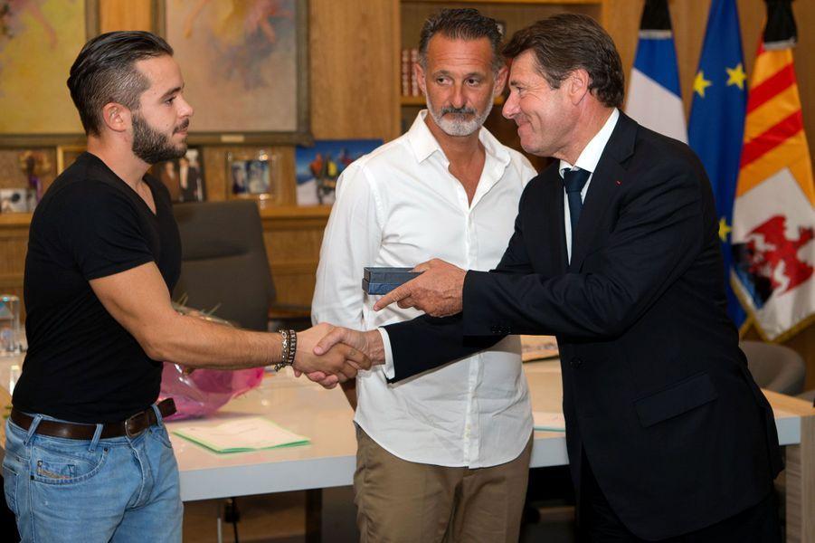 Gwenaël, Franck et Christian Estrosi