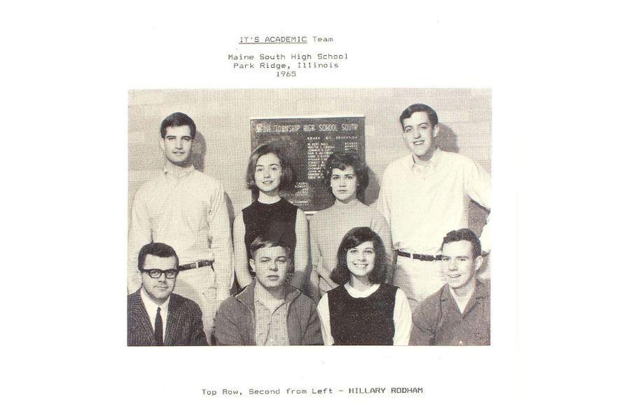A son lycée de Park Ridge, en 1965