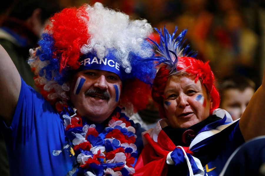 Les supporters français présents au rendez-vous du handball.