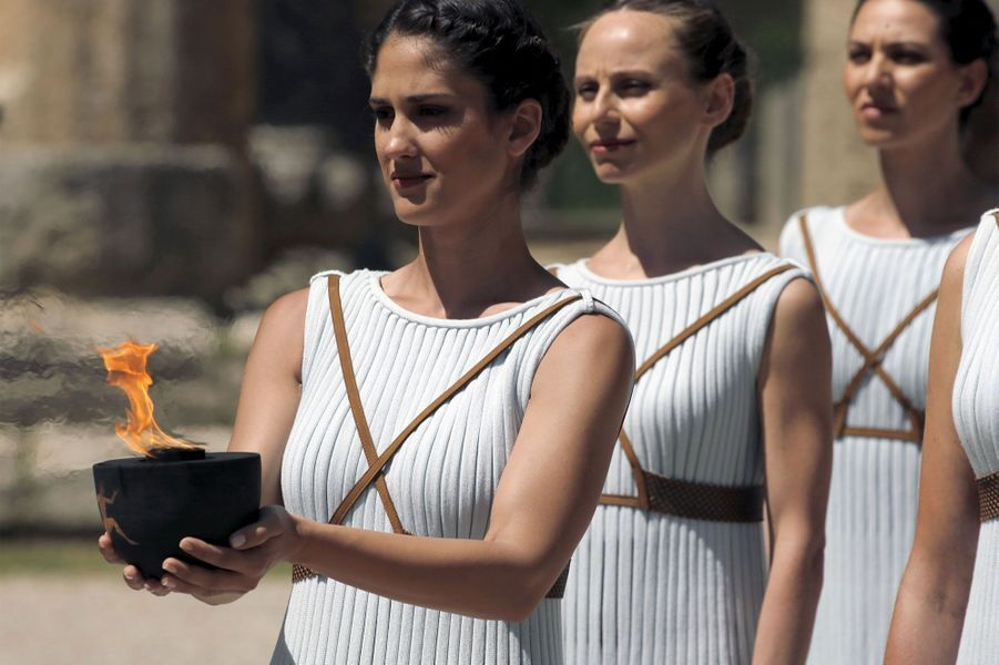 En Grèce, la flamme olympique de Rio s'allume