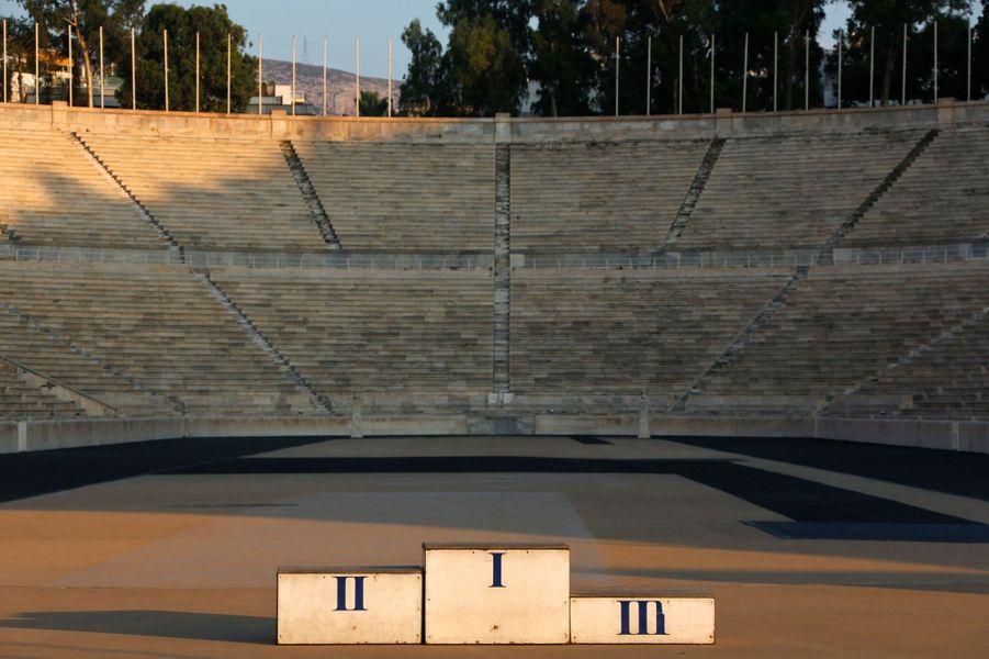 Un podium dans le stade panathénaïque