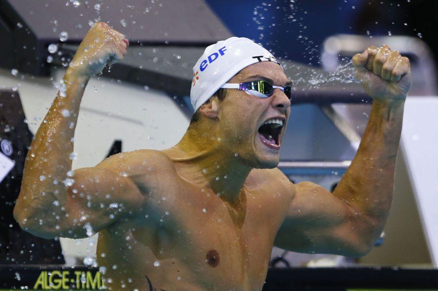 A Berlin, aux championnats d'Europe, il gagne le 100m nage libre