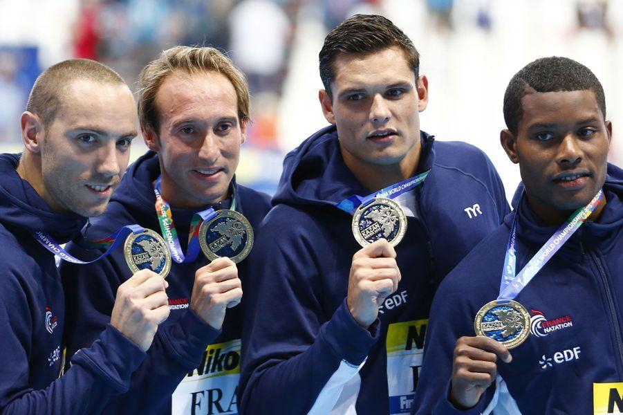 Avec les Bleus, il célèbre sa victoire en relais à Kazan dimanche