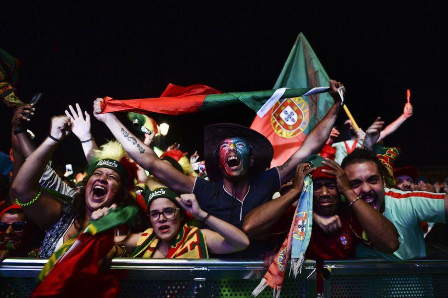 La liesse à Lisbonne après la victoire du Portugal à l'Euro 2016.