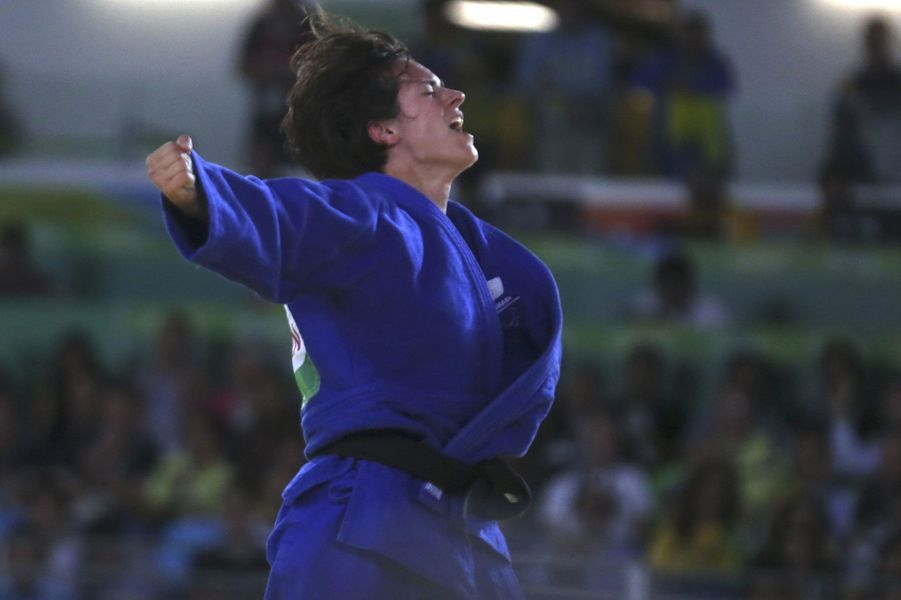 Sandrine Martinet a remporté l'or à Rio, après deux médailles d'argent à Athènes et Pékin