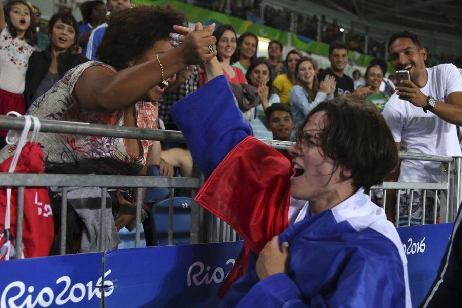 Sandrine Martinet savoure sa victoire, jeudi, à Rio