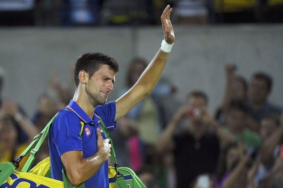 JO 2016 : Eliminé d'entrée, les larmes de Djokovic