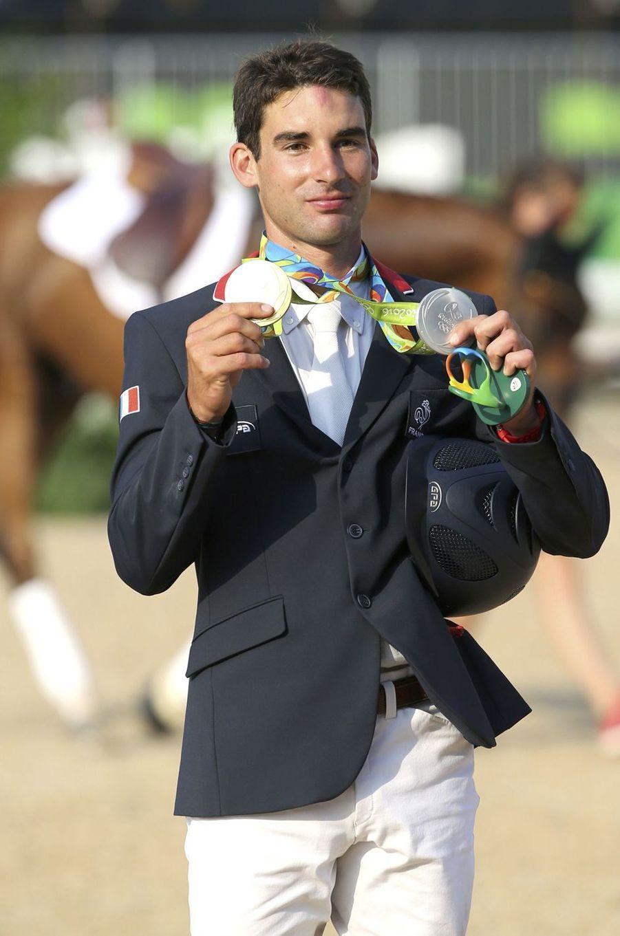 JO 2016 : Astier Nicolas, médaille d'argent de l'épreuve individuelle du concours complet.