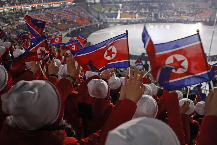 Les pom-pom girls nord-coréennes.