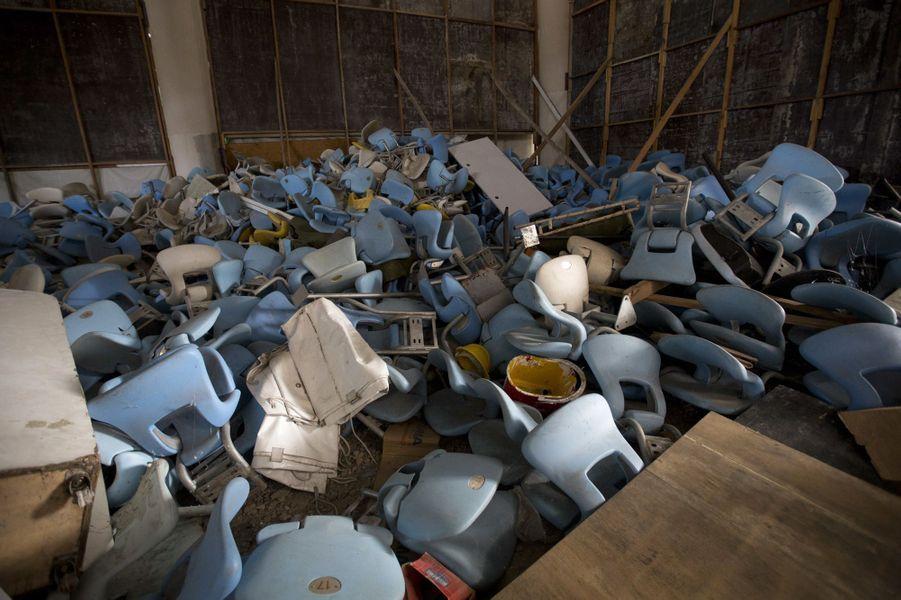 Les sièges ont été vandalisés dans le stade Maracana.